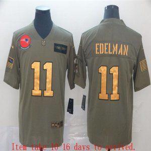 New England Patriots Julian Edelman Jersey Olive